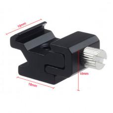 Adaptador de zapata rosca 1/4 a zapata estándar metálico