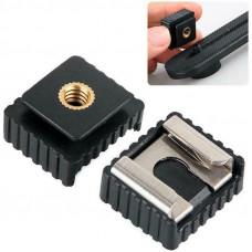 Adaptador de zapata: Rosca 1/4 a zapata  estándar