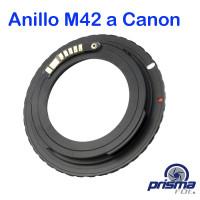 Anillo Adaptador de Montura M42 a Canon con Confirmación de Foco
