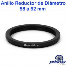 Anillo Reductor de diámetro de 58 a 52 mm