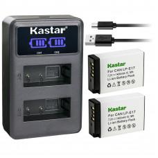 Combo 2 Baterías Recargablse Lp E17 + Cargador