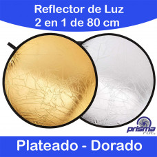 Rebotador de luz 2 en 1. 80 cm Plateado Dorado