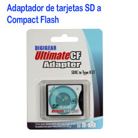 Adaptador de Memoria SD a Compact Flash